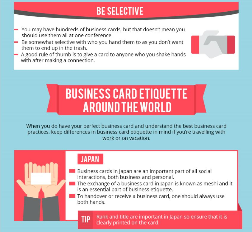 Business Card Etiquette Around The World [Infographic]